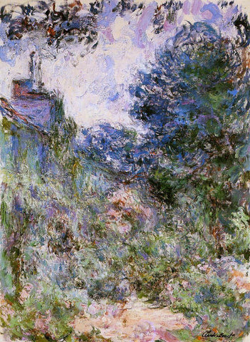 Claude Oscar Monet The House Seen from the Rose Garden - Hand Painted Oil Painting
