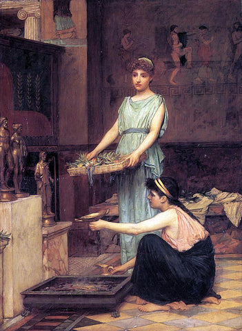 John William Waterhouse The Household Gods - Hand Painted Oil Painting