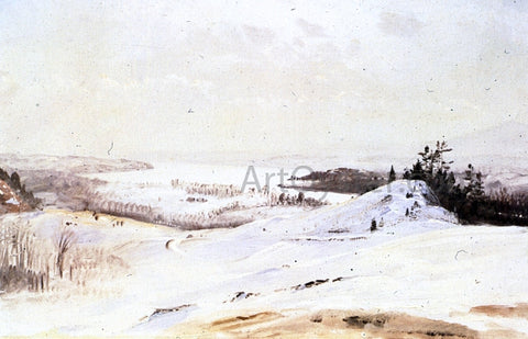 Frederic Edwin Church The Hudson Valley in Winter from Olana - Hand Painted Oil Painting