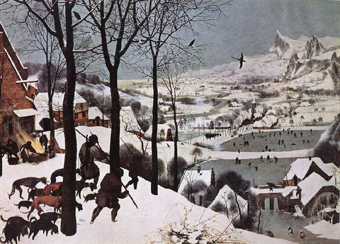 The Elder Pieter Bruegel The Hunters in the Snow (Winter) - Hand Painted Oil Painting
