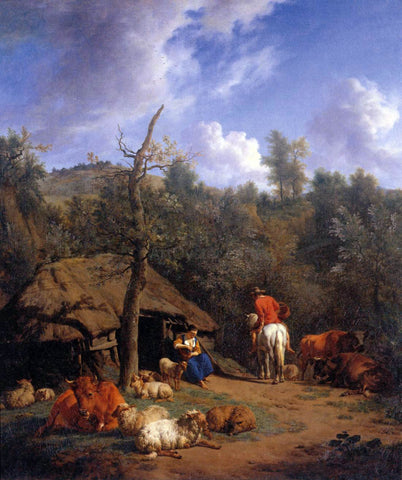 Adriaen Van de Velde The Hut - Hand Painted Oil Painting