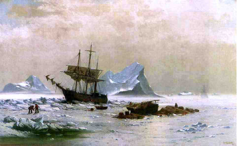 William Bradford the Ice Floes - Hand Painted Oil Painting