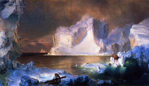 Frederic Edwin Church The Icebergs - Hand Painted Oil Painting