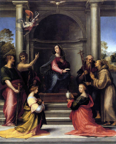 Fra Bartolomeo The Incarnation with Six Saints - Hand Painted Oil Painting