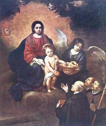 Bartolome Esteban Murillo The Infant Jesus Distributing Bread to Pilgrims - Hand Painted Oil Painting