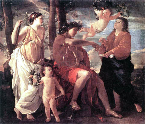 Nicolas Poussin The Inspiration of the Poet - Hand Painted Oil Painting