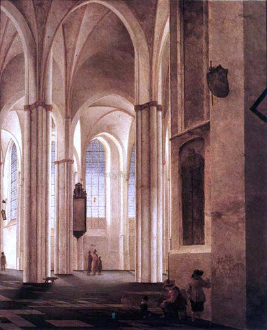 Pieter Jansz Saenredam The Interior of the Buurkerk at Utrecht - Hand Painted Oil Painting