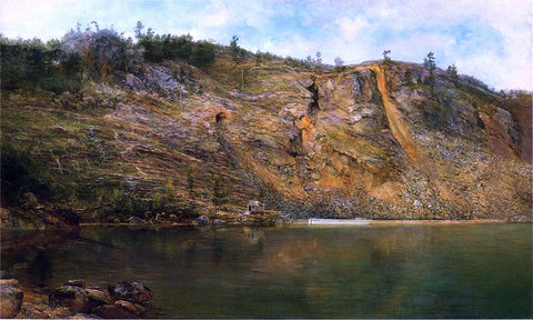 Homer Dodge Martin The Iron Mine, Port Henry, New York - Hand Painted Oil Painting