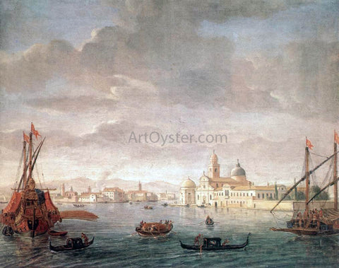 Caspar Andriaans Van Wittel The Island of San Michele, Looking Toward Murano - Hand Painted Oil Painting