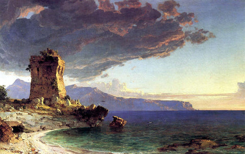Jasper Francis Cropsey The Isle of Capri - Hand Painted Oil Painting