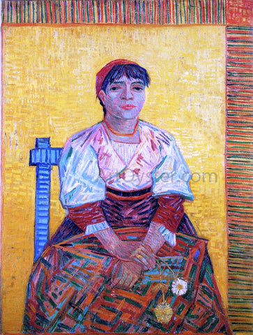 Vincent Van Gogh The Italian Woman - Hand Painted Oil Painting