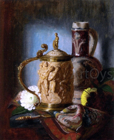 Blaise Alexandre Desgoffe The Ivory Tankard - Hand Painted Oil Painting