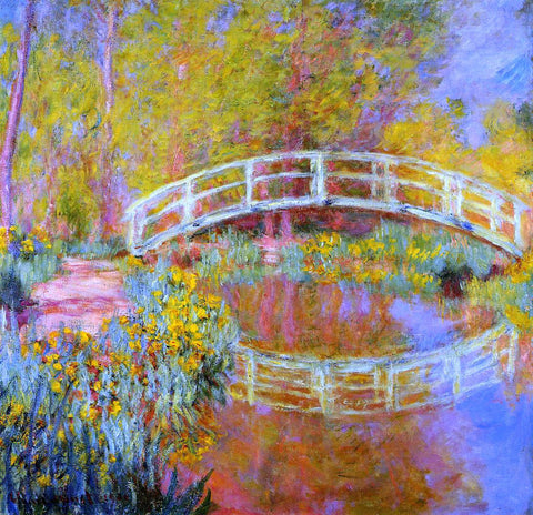Claude Oscar Monet A Japanese Bridge at Giverny - Hand Painted Oil Painting