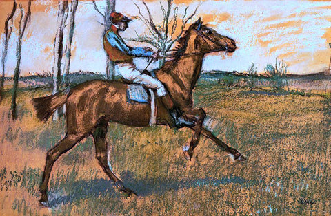 Edgar Degas The Jockey - Hand Painted Oil Painting