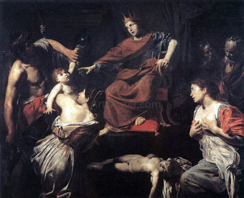 Valentin De boulogne The Judgment of Solomon - Hand Painted Oil Painting