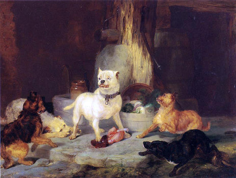 Sir Edwin Henry Landseer The King of the Castle - Hand Painted Oil Painting