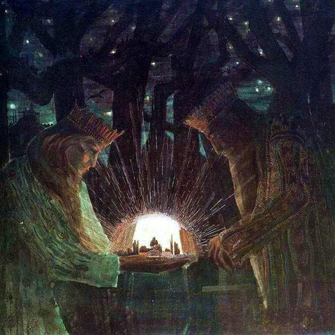Mikalojus Ciurlionis The Kings - Fairy-Tale - Hand Painted Oil Painting