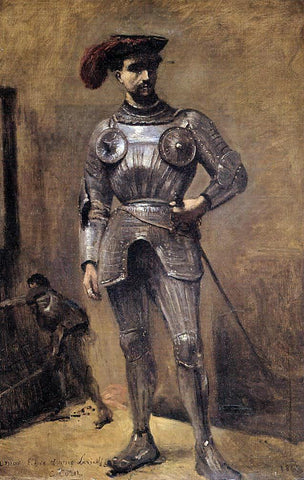 Jean-Baptiste-Camille Corot The Knight - Hand Painted Oil Painting