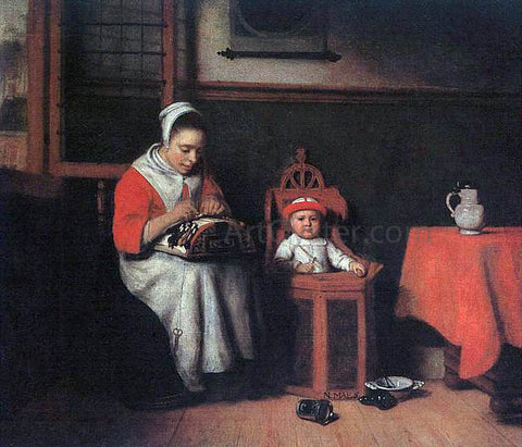 Nicolaes Maes The Lacemaker - Hand Painted Oil Painting