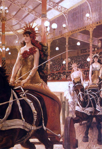 James Tissot The Ladies of the Cars - Hand Painted Oil Painting