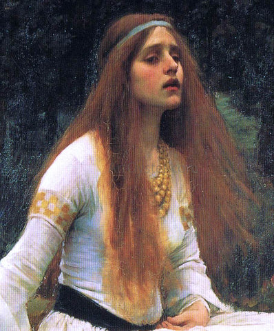 John William Waterhouse The Lady of Shalott (detail-top) - Hand Painted Oil Painting