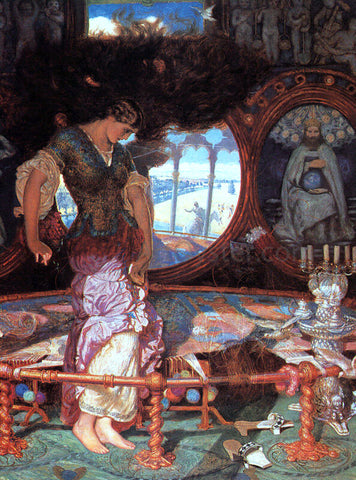 William Holman Hunt The Lady of Shalott - Hand Painted Oil Painting