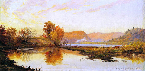 Jasper Francis Cropsey The Lake - Hand Painted Oil Painting