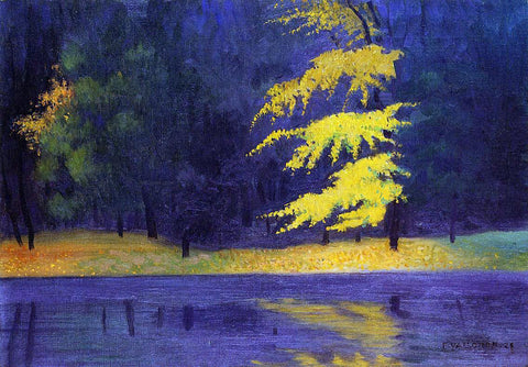 Felix Vallotton The Lake in the Bois de Boulogne - Hand Painted Oil Painting