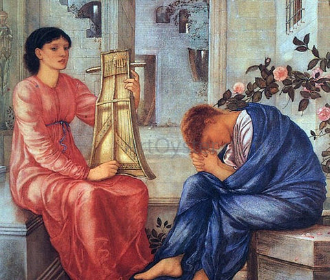 Sir Edward Burne-Jones The Lament - Hand Painted Oil Painting