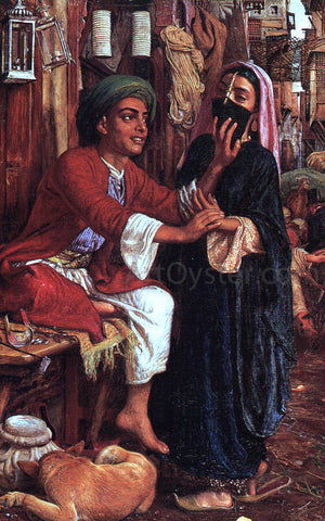 William Holman Hunt The Lantern Maker's Courtship - Hand Painted Oil Painting