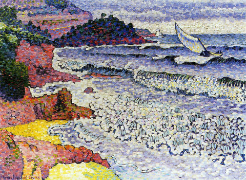 Henri Edmond Cross The Lapping Sea - Hand Painted Oil Painting