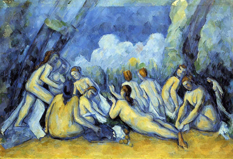 Paul Cezanne The Large Bathers - Hand Painted Oil Painting