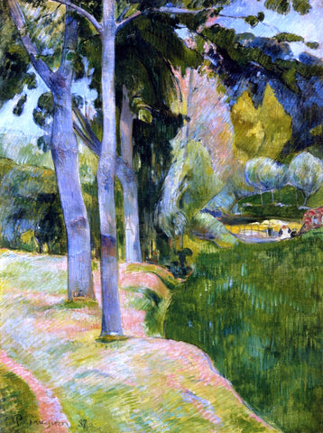 Paul Gauguin The Large Trees - Hand Painted Oil Painting