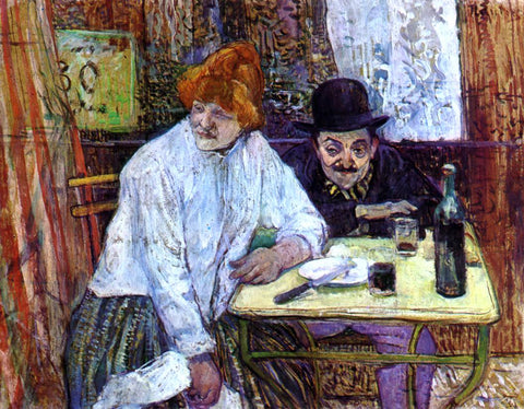 Henri De Toulouse-Lautrec The Last Crumbs (also known as A la Mie) - Hand Painted Oil Painting