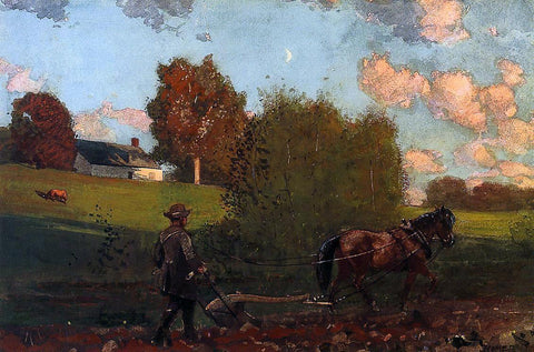Winslow Homer The Last Furrow - Hand Painted Oil Painting