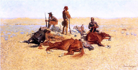 Frederic Remington The Last Lull in the Fight (also known as The Last Stand) - Hand Painted Oil Painting