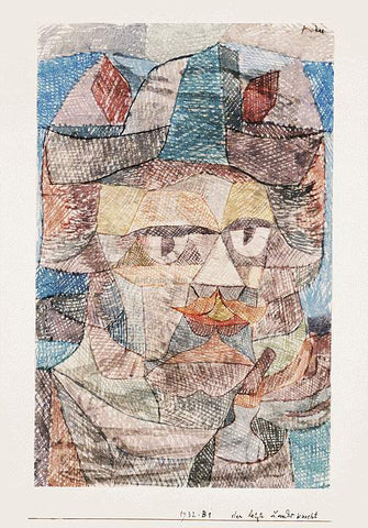 Paul Klee The Last of the Mercenaries - Hand Painted Oil Painting