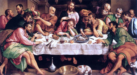 Jacopo Bassano The Last Supper - Hand Painted Oil Painting