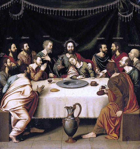 Nicolas Borras The Last Supper - Hand Painted Oil Painting
