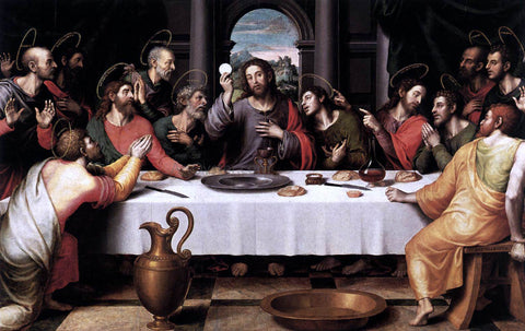Juan de es De Juanes The Last Supper - Hand Painted Oil Painting