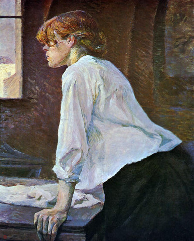 Henri De Toulouse-Lautrec The Laundress - Hand Painted Oil Painting
