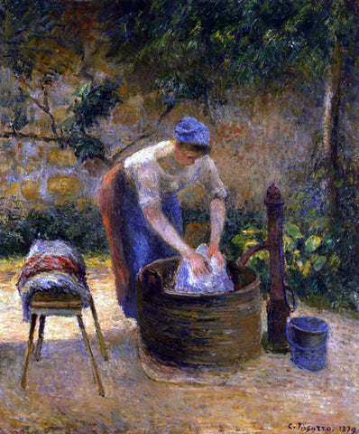 Camille Pissarro The Laundry Woman (also known as Laundry) - Hand Painted Oil Painting