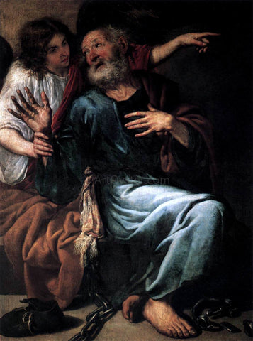 Antonio De Pereda The Liberation of St Peter by an Angel - Hand Painted Oil Painting