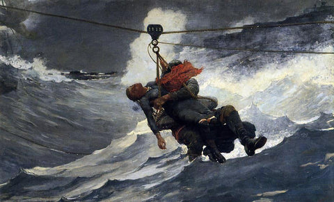 Winslow Homer The Life Line - Hand Painted Oil Painting