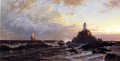 Alfred Thompson Bricher The Lighthouse - Hand Painted Oil Painting