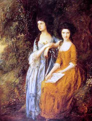 Thomas Gainsborough The Linley Sisters - Hand Painted Oil Painting