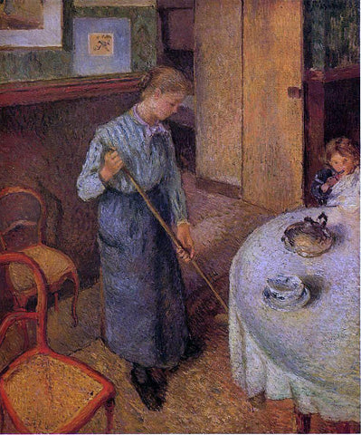 Camille Pissarro The Little Country Maid - Hand Painted Oil Painting