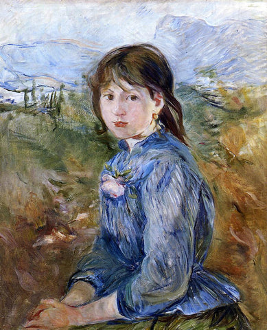 Berthe Morisot The Little Girl from Nice, Celestine - Hand Painted Oil Painting
