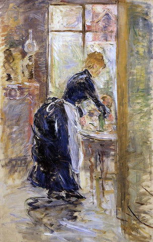 Berthe Morisot The Little Maid Servant - Hand Painted Oil Painting