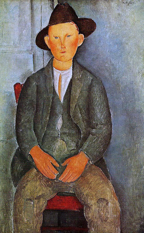 Amedeo Modigliani The Little Peasant - Hand Painted Oil Painting